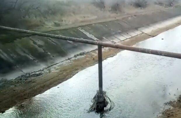 Обміління каналу в Криму, фото YouTube