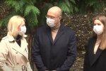 Денис Шмигаль на місцевих виборах, фото: кадр з відео