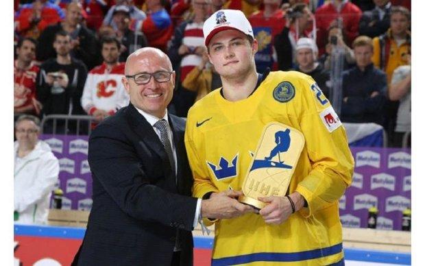 Форвард Швеції Нюландер визнаний найціннішим гравцем ЧС-2017 з хокею