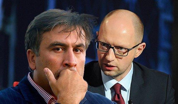 Это витрина Миши: Яценюк раскритиковал Саакашвили