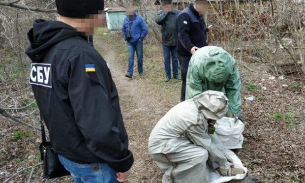Опасный тайник возле Лисичанска, фото: СБУ
