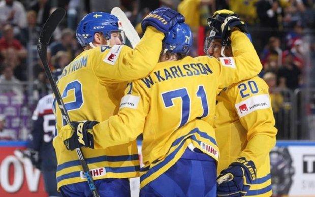 Букмекери вважають Швецію фаворитом в матчі зі Швейцарією на ЧС-2017 з хокею