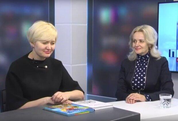 Ирина Фарион и Лариса Ницой, скрин с видео