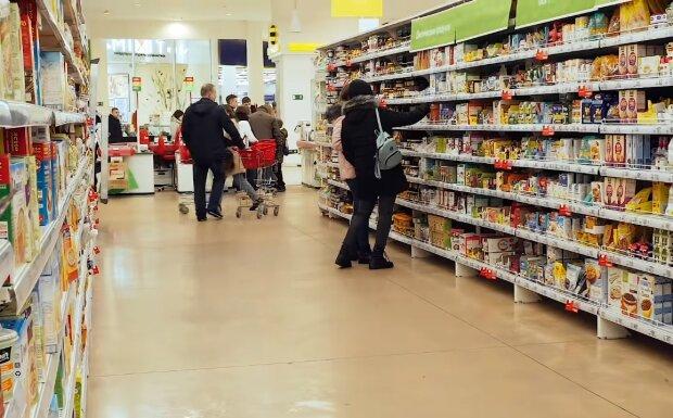 Супермаркет, скрин из видео