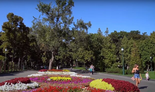 парк в Харькове, скриншот из видео