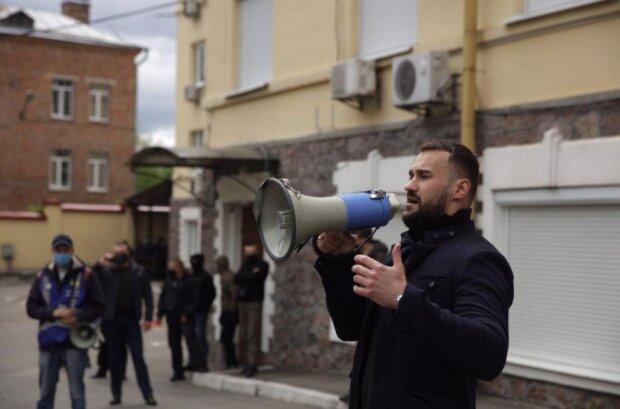 Протести біля офісу Медведчука, фото: nationalcorps.org
