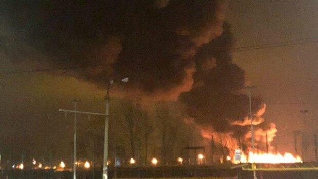 Масштабный пожар на Троещине