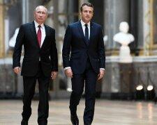 Путин и Макрон, фото из свободных источников