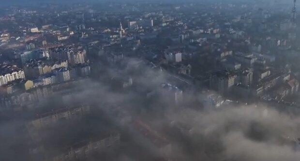 Туман в Ивано-Франковске, кадр из видео, изображение иллюстративное: YouTube