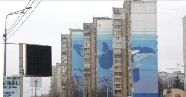 В Харькове появился гигантский мурал, рекорд Украины одним взмахом кисточки: зрелищные фото