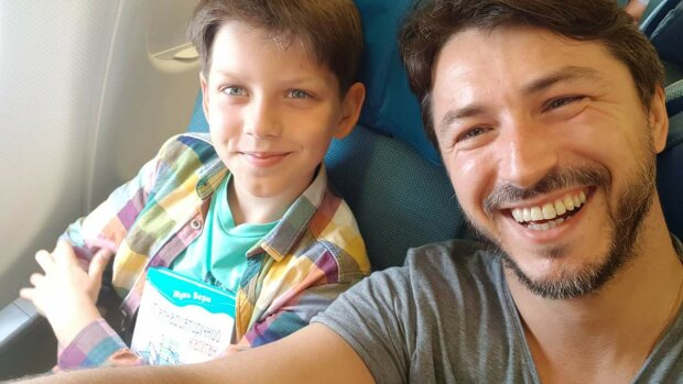 Сергій Притула з сином, фото з інстаграм