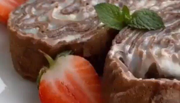 Шоколадный рулет, скриншот: YouTube