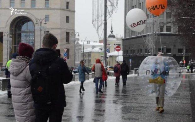 Путін всіх надув: перформанс біля стін ФСБ закінчився передбачувано
