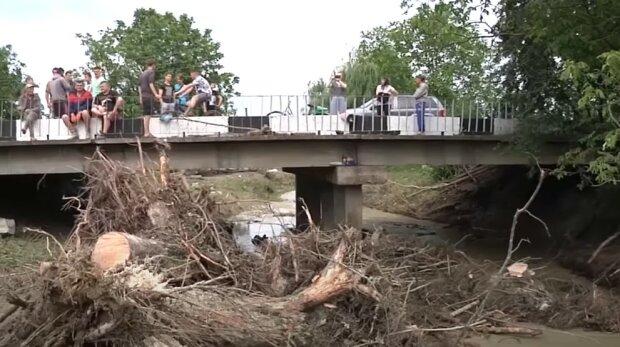 Жителі двох сіл на Кіцманщині не пам'ятають такого масштабного затоплення, скріншот
