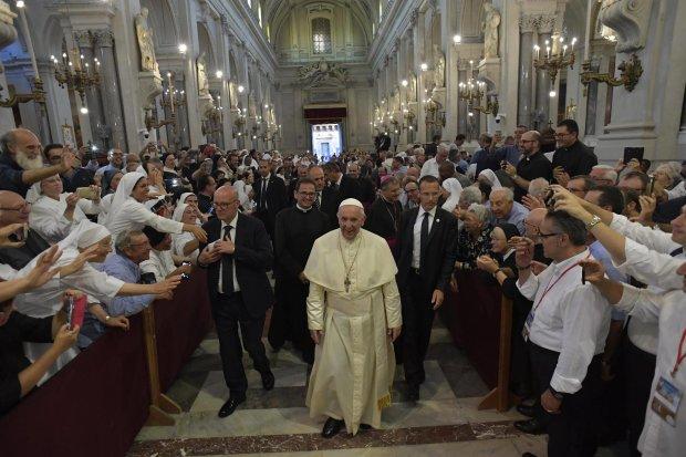 Папа Римский Франциск в Сицилии