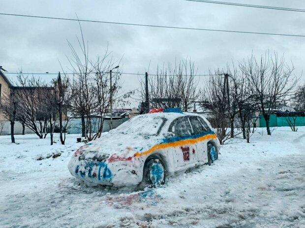 В Днепре слепили авто для полиции, фото: Информатор