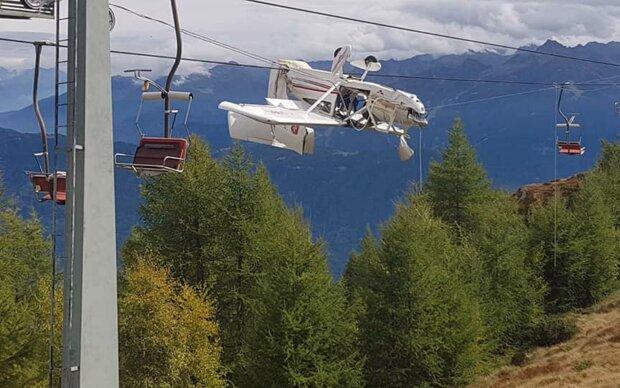 Авиакатастрофа покрытая тайной: в Альпах нашли самолет, который повис в проводах