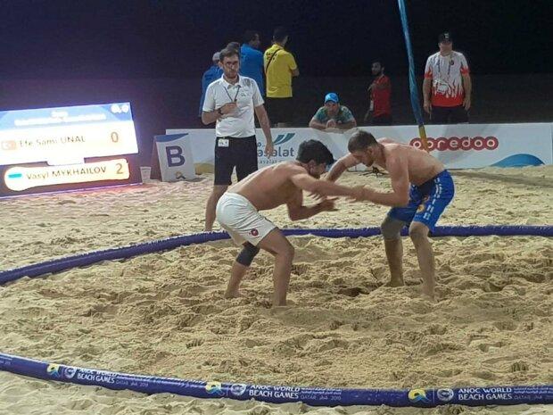 Українські борці завоювали дві медалі на Всесвітніх пляжних іграх у Досі