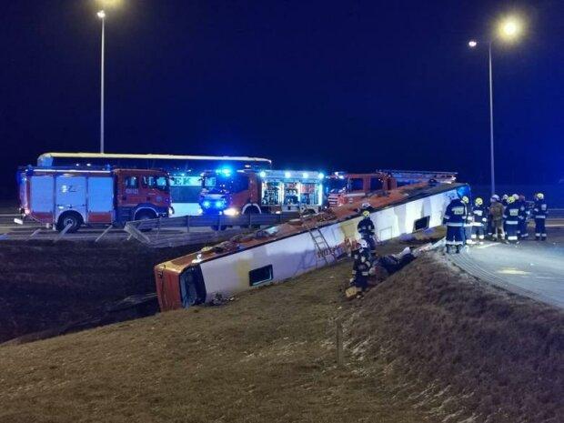 В Польше автобус попал в ДТП, среди пассажиров была львовянка