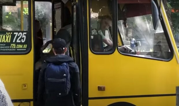 маршрутка Дніпра, скріншот з відео