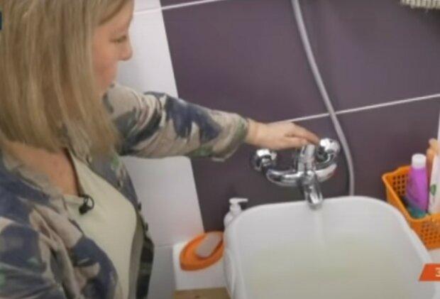 вода з крана, скріншот з відео