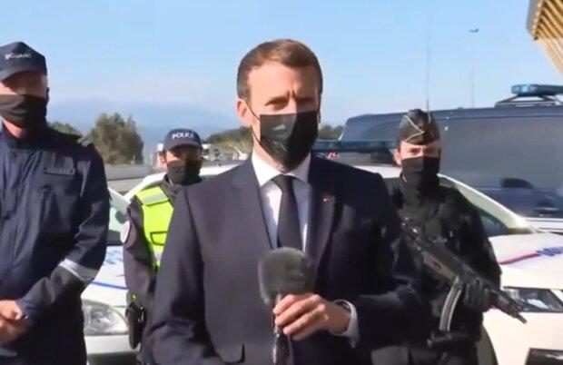 Эммануэль Макрон, скриншот с видео