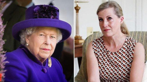 Елизавета II и графиня Уэссекская, коллаж: 7News