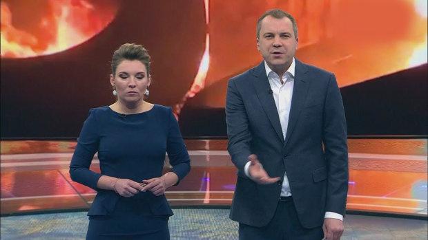 """ведущие прокремлевского ток-шоу """"60 минут"""""""