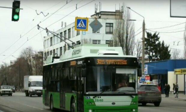 тролейбус, Харків, скріншот з відео