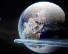 Земля, луна, астероид