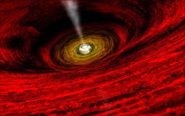 Уникальные черные дыры попали в объектив Hubble