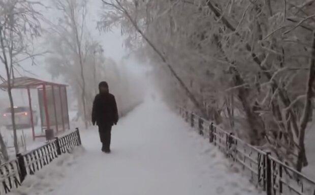Зимняя погода, кадр из видео