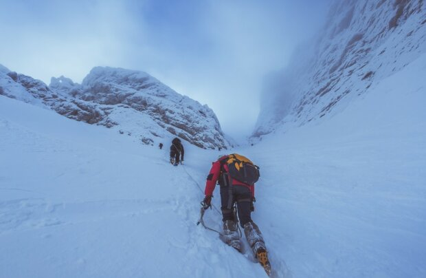 Люди в горах, фото: Пикабу