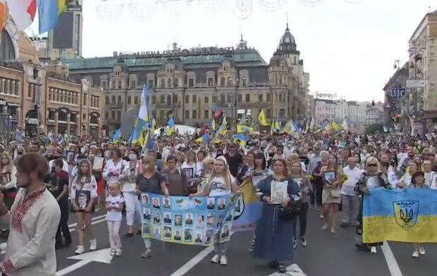 Марш Захисників України, скріншот з відео