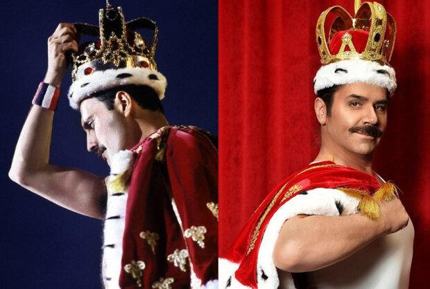 """Фредди Меркьюри от Зиброва: усатый """"король"""" украинской эстрады примерил корону легенды Queen"""