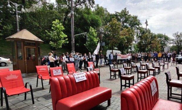Мітинг рестораторів під Кабміном, фото: Telegram PavlovskyNews