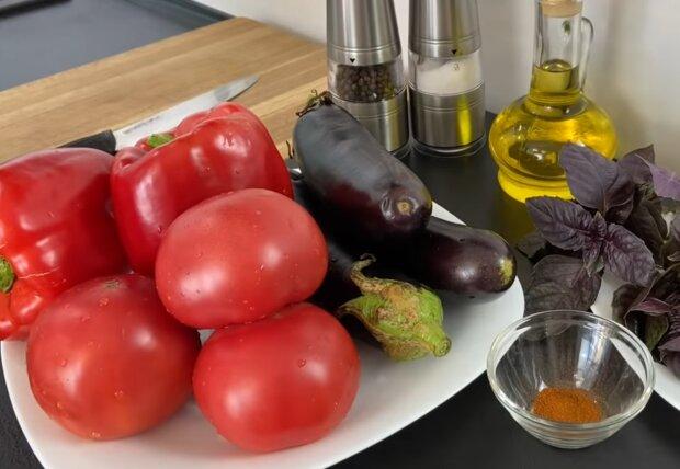 Приготування овочів, кадр з відео