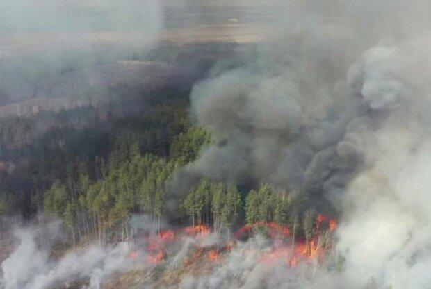 Пожар в Чернобыле, фото из открытых источников