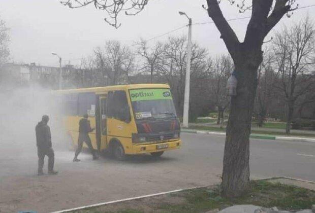 Маршрутка в Чорноморську, фото: Telegram