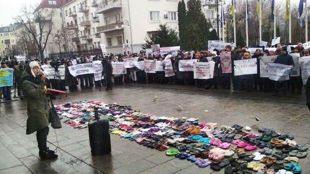 Протест под Офисом Зеленского, фото: Kyiv LIVE