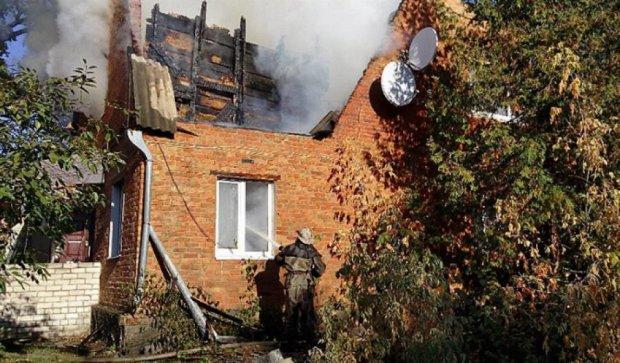 Відділення міліції згоріло на Київщині (фото)