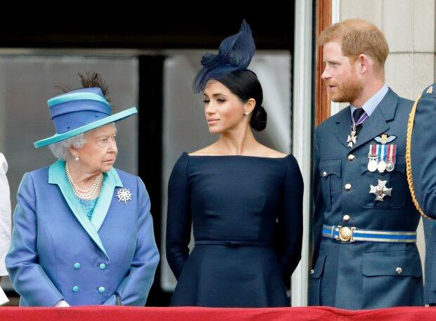 Єлизавета ІІ, принц Гаррі та Меган Маркл, фото Getty Images