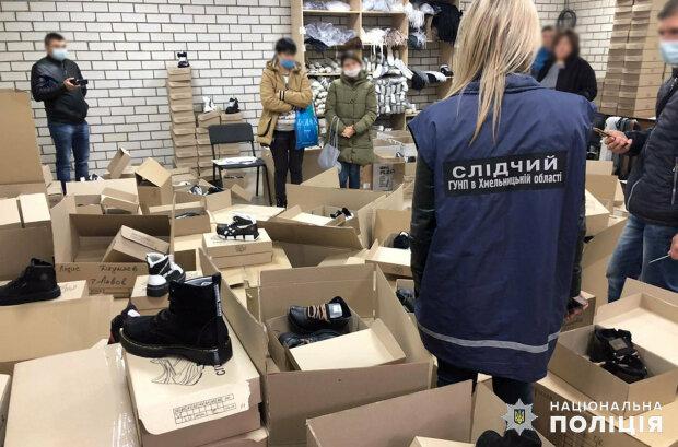 Хмельницька поліція викрила підпільні цехи з виготовлення взуття відомих брендів