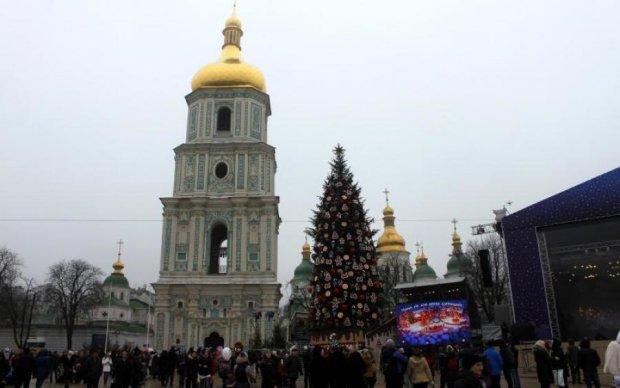 """Рубайте під корінь: вандали """"приготували"""" столицю до Нового року"""