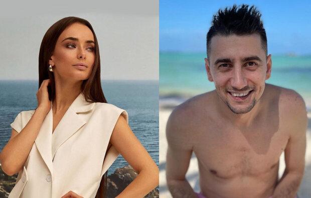 Ксения Мишина и Александр Эллерт, фотоколлаж с фото Instagram