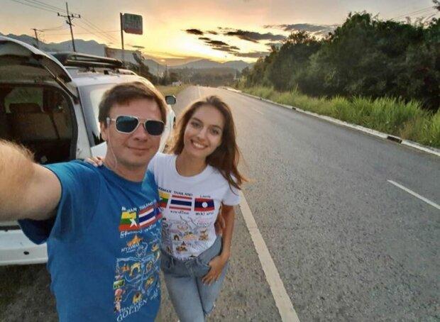 Дмитрий Комаров с женой, фото Инстаграм