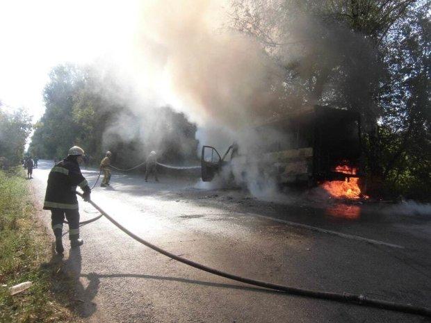 Під Києвом спалахнула маршрутка, не залишилося навіть коліс: подробиці і фото пекельного інциденту