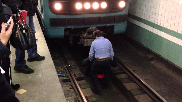 У Києві чоловік впав під потяг: метро паралізовано, перші подробиці