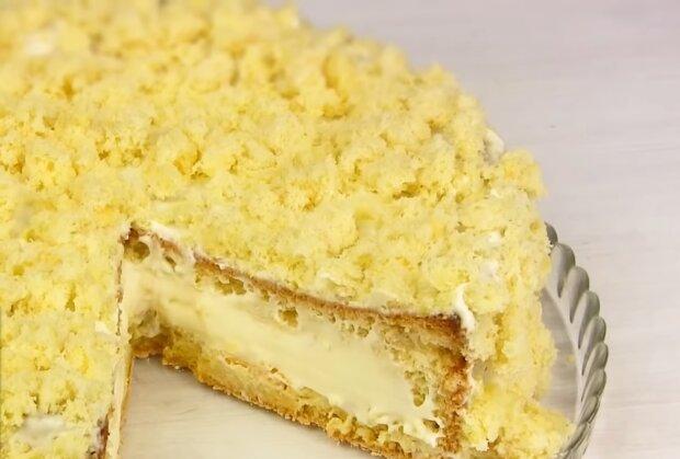 """Торт """"Кульбаба"""", фото: кадр з відео"""
