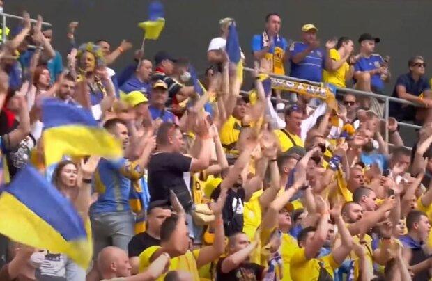 Украинские болельщики, скриншот: YouTube